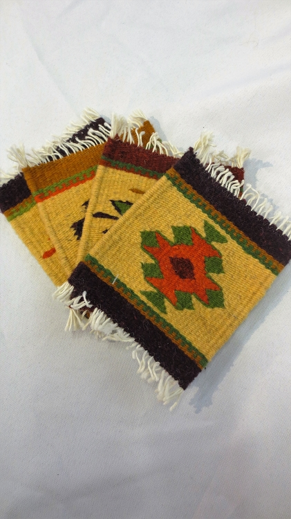 Zapotec Indian Woven Coasters