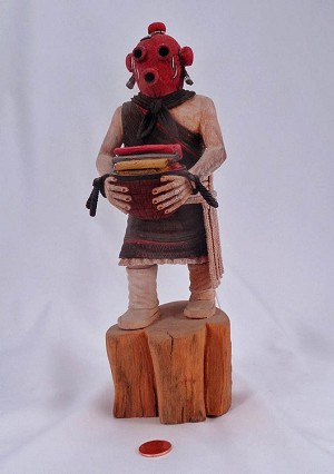 Mud Head Lady Hopi Kachina Doll