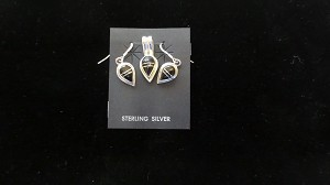 Sterling Silver Black Onyx Jewelry Set