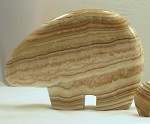 Banded Calcite Bear - Large