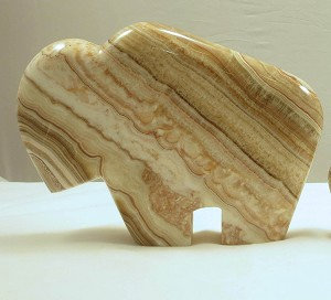 Banded Calcite Bison - Extra Large