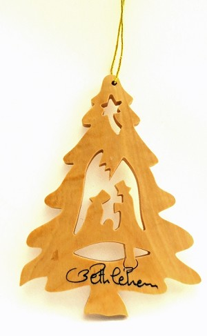 Olive Wood Christmas Ornament