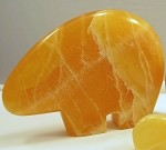 Honey Calcite Bear - Large