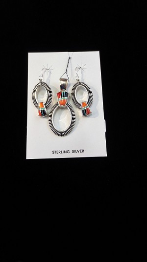 Sterling Sliver Earring and Necklace Set